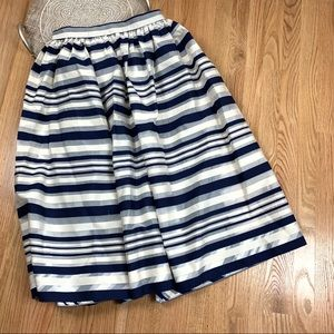 Erin Fetherston A Line Striped Skirt